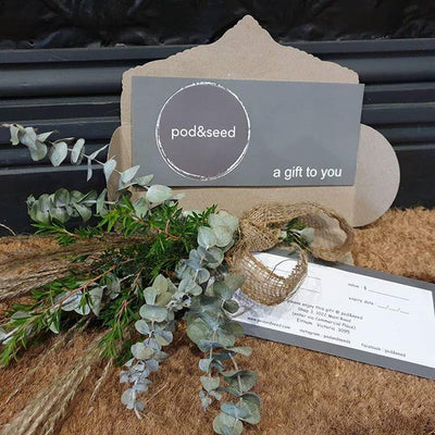 pod&seed Gift Voucher - pod&seed online