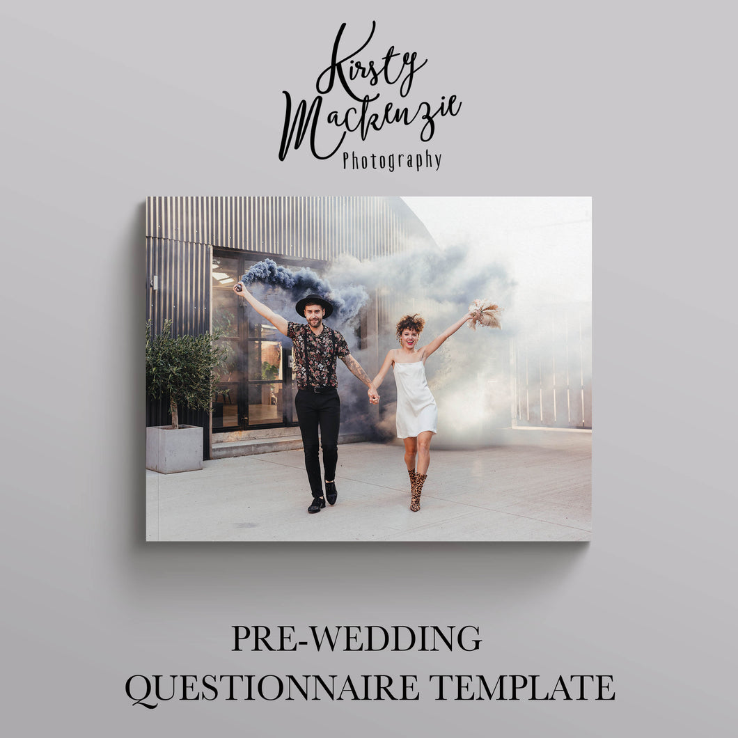 Pre-wedding Day in Detail Form Template