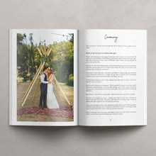 Load image into Gallery viewer, Wedding Photography Welcome Magazine Template - A4