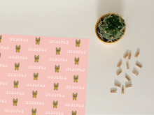 Load image into Gallery viewer, Personalised French Bulldog Wrapping Paper