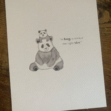 Load image into Gallery viewer, Panda New Baby Nursery Baby Winnie The Pooh Quote Room Print