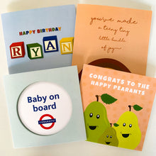 Load image into Gallery viewer, Baby Toy Cloud Welcome To The World Personalised New Baby Card!