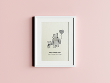 Load image into Gallery viewer, Personalised Name & D.O.B Winnie The Pooh Inspired Prints Baby/Toddler Nursery Room Illustrated Quote Print