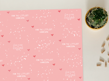 "Load image into Gallery viewer, Personalised ""New Baby Girl"" Wrapping Paper"
