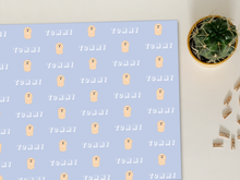 Load image into Gallery viewer, Personalised Colourful Cavapoo Wrapping Paper