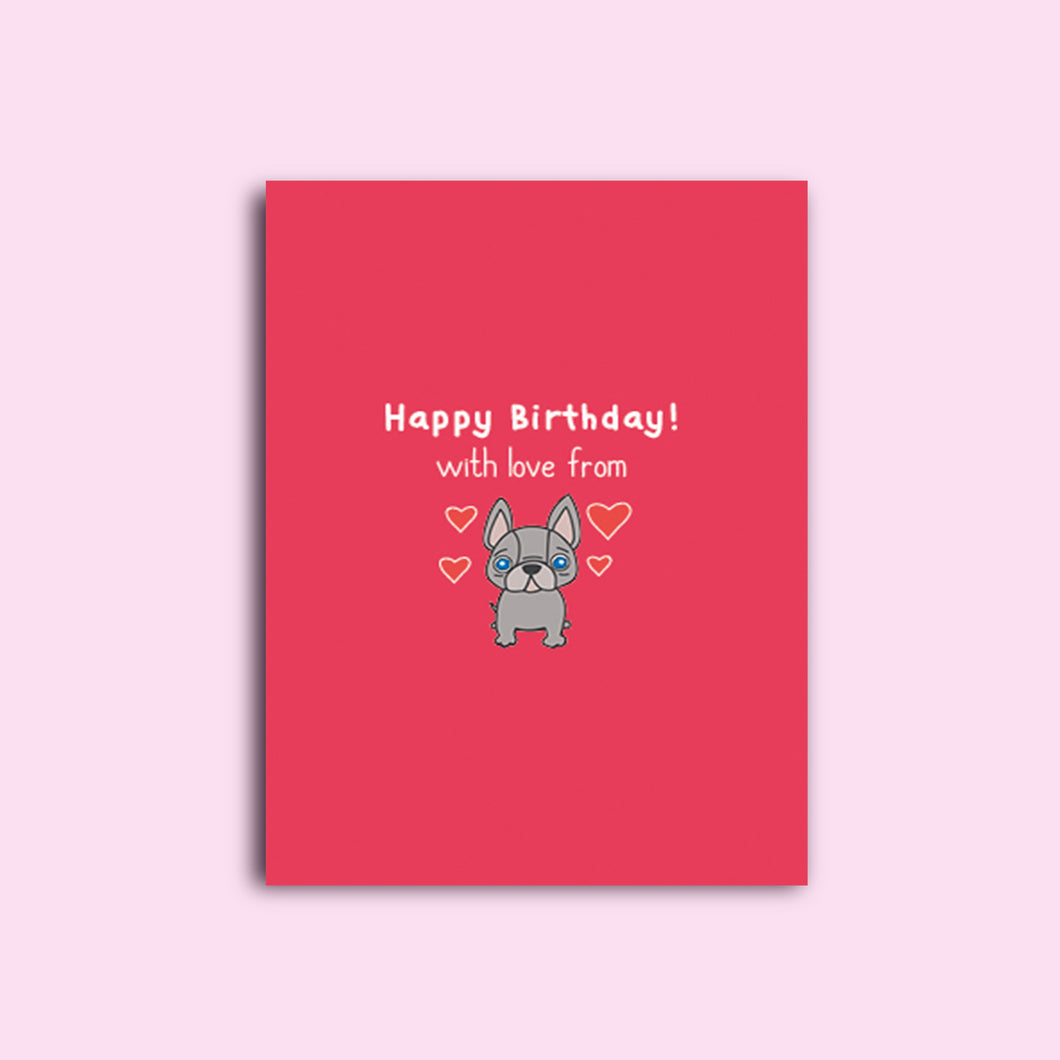 Personalised French Bulldog Birthday Card [Other occasions available]
