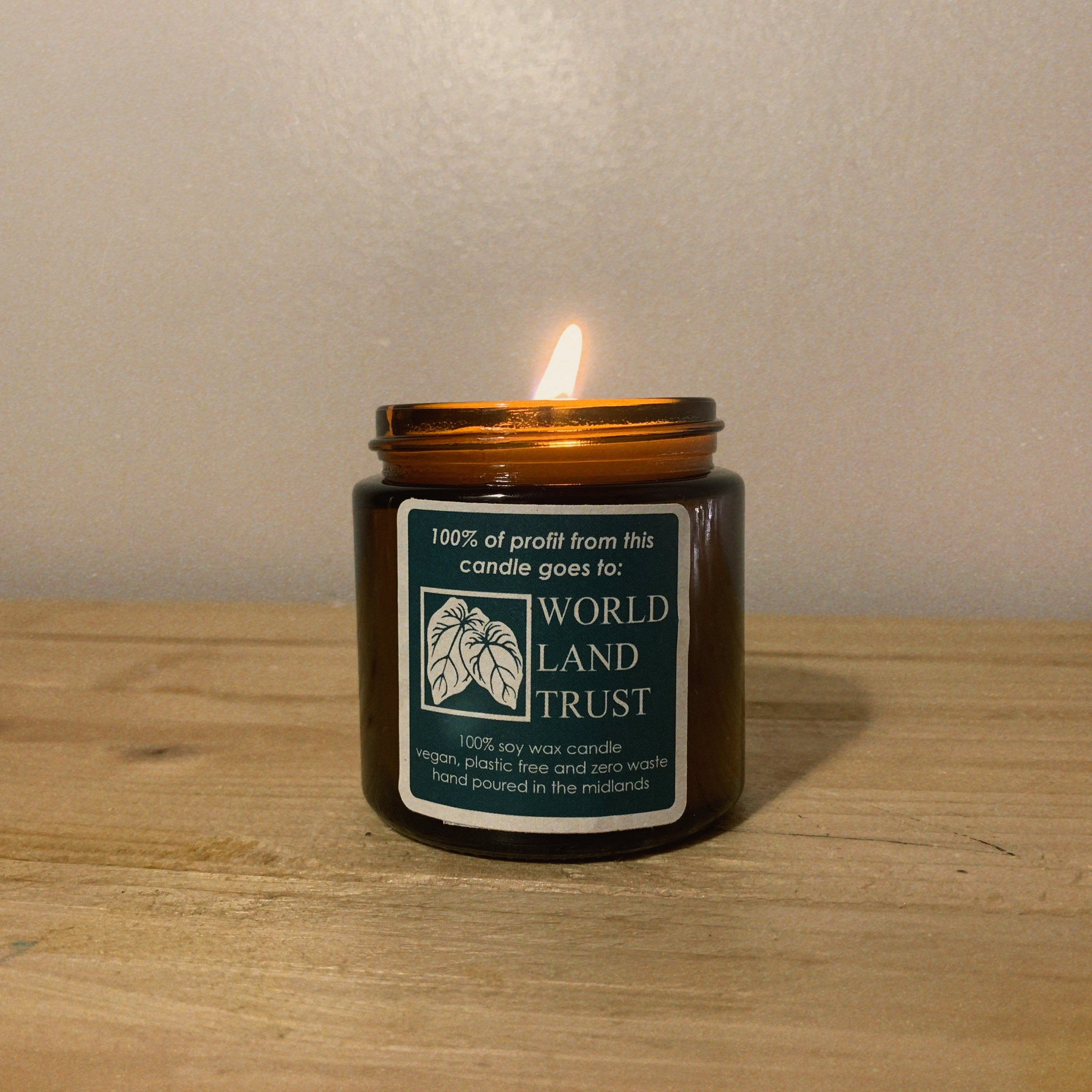 World Land Trust Charity Candle - Freshly Cut Grass.