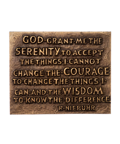 Serenity Prayer Bronze Wall Plaque
