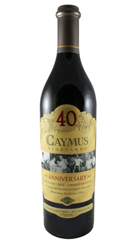 Caymus Vineyards, 40th Anniversary, Cabernet Sauvignon