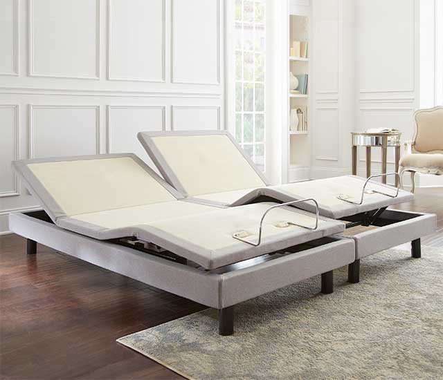 Split King size Boyd adjustable power base 6 in a luxury bedroom setting