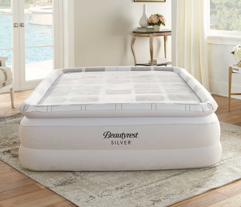 Simmons Beautyrest SIlver Memory Aire guest air bed in living room