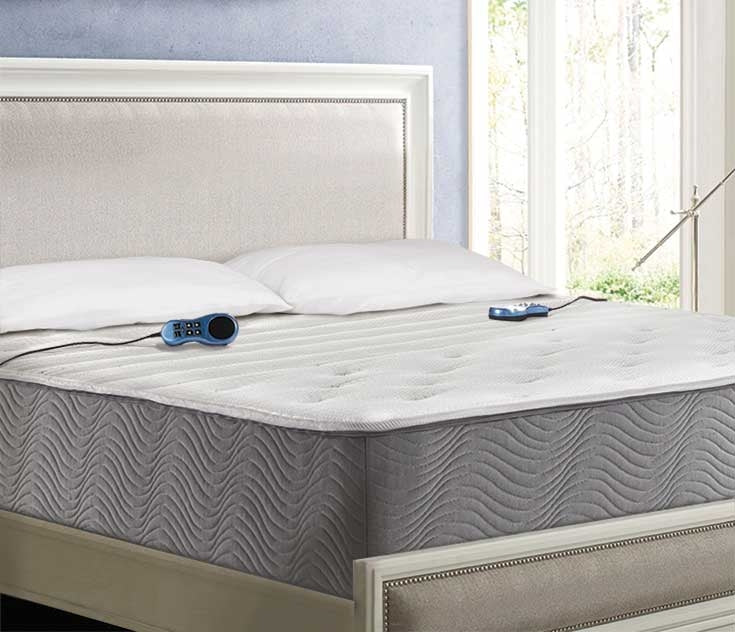 Close up image of the Night Air 2255 number bed in a bedroom setting