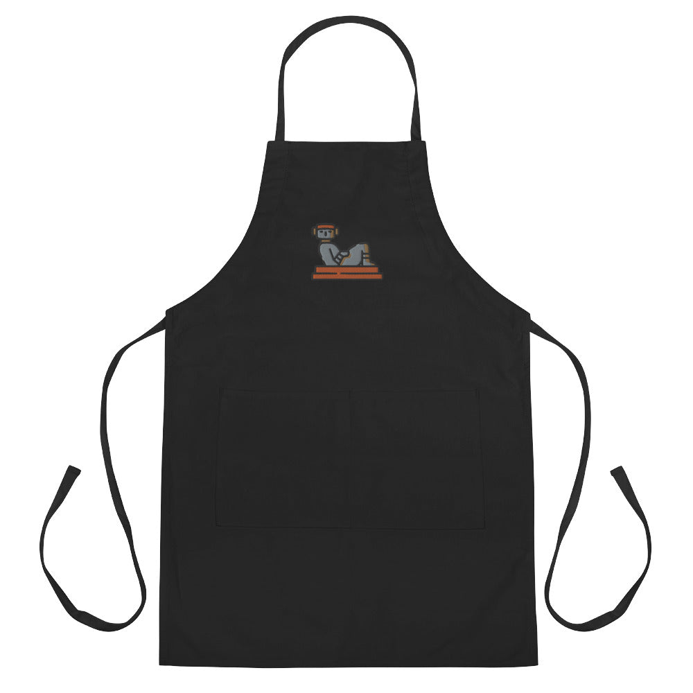 Chac Mool Embroidered Apron - FRANKdesigns.Co