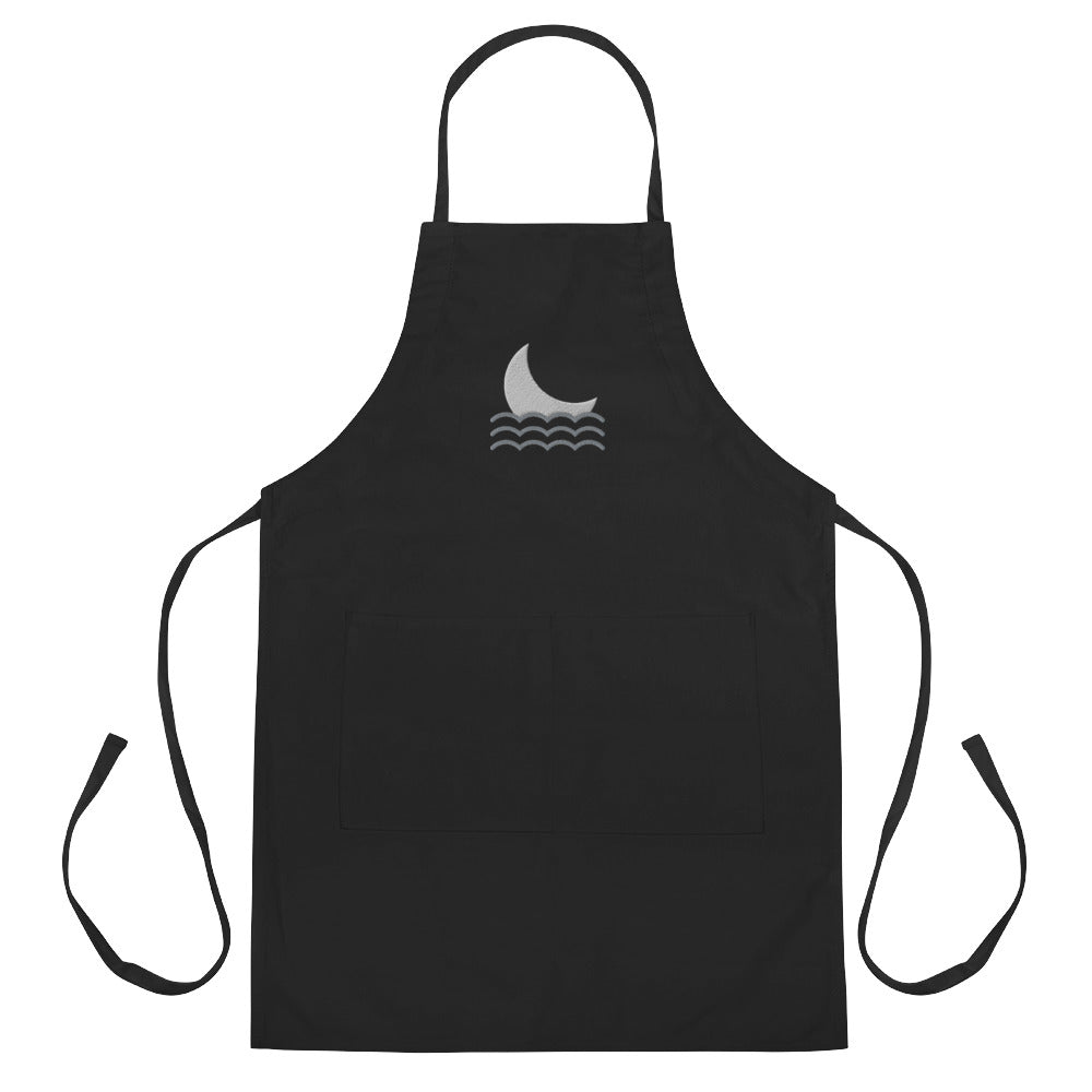 Moon over Ocean Embroidered Apron - FRANKdesigns.Co