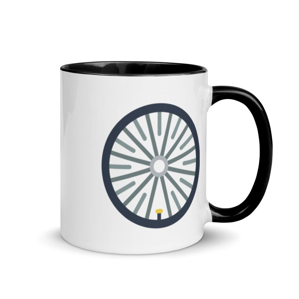 Bicycle Wheel Mug with Color Inside - FRANKdesigns.Co