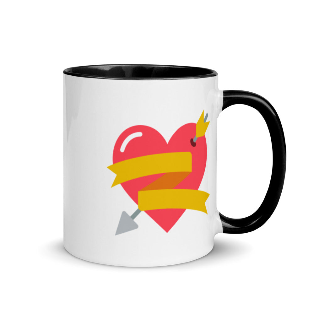 Heart Mug with Color Inside - FRANKdesigns.Co