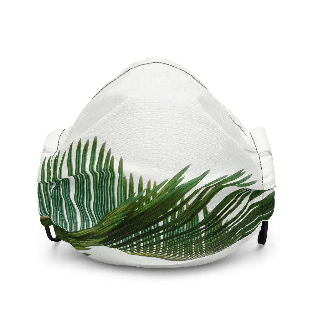 Beautiful Green Leaves 15 Premium face mask - FRANKdesigns.Co