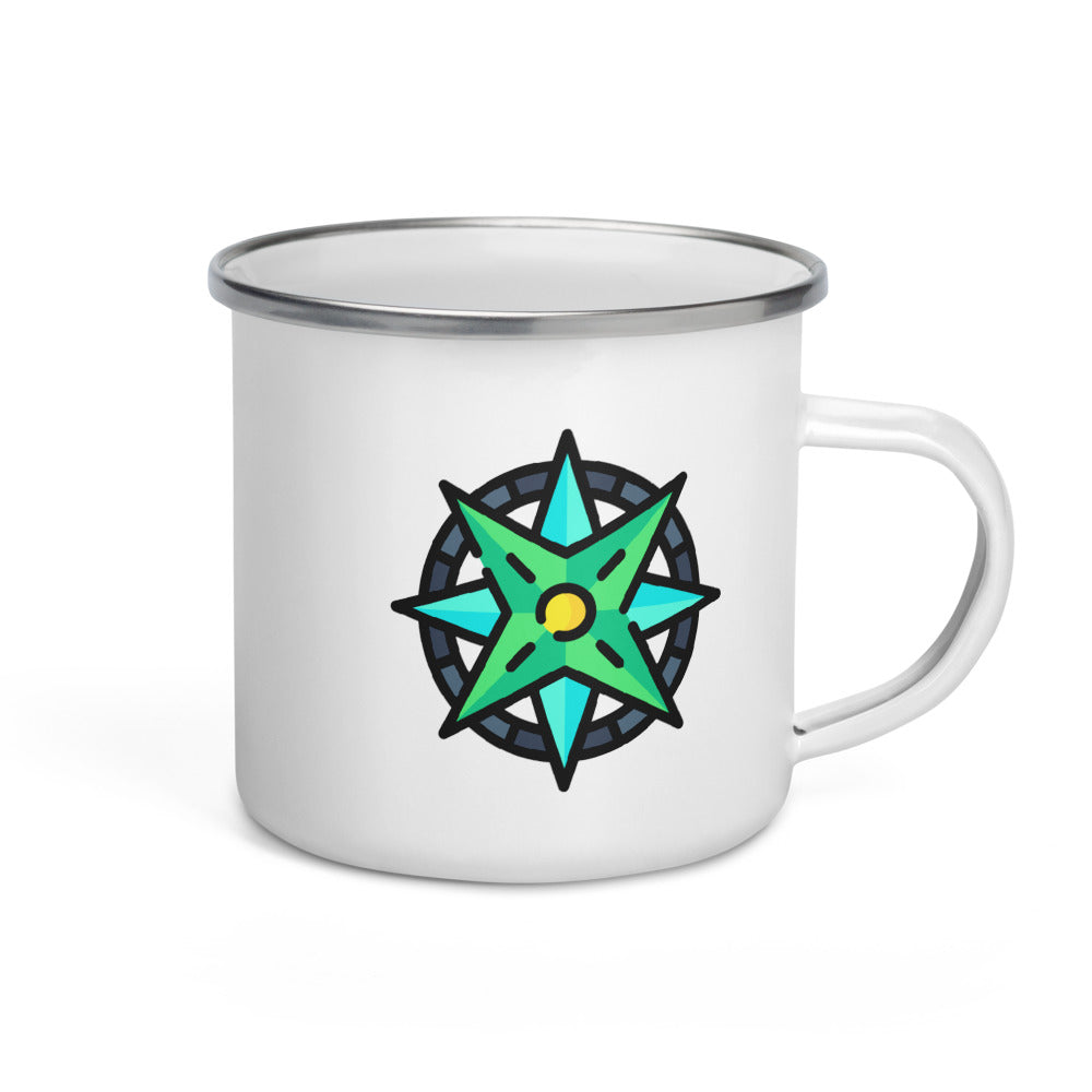 Windrose Enamel Mug - FRANKdesigns.Co