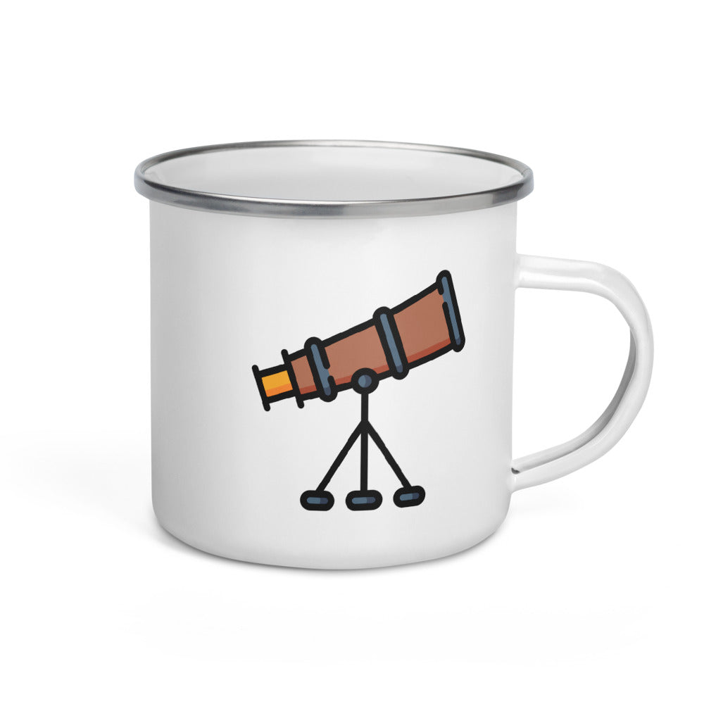 Telescope Enamel Mug - FRANKdesigns.Co