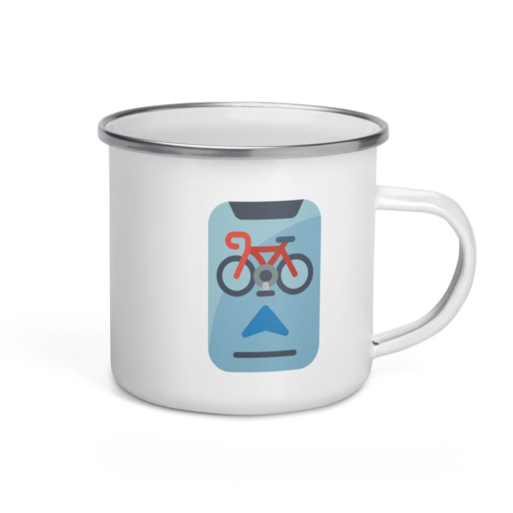 Biking Apps Enamel Mug - FRANKdesigns.Co