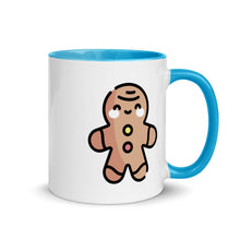 Load image into Gallery viewer, Gingerbread Man Mug with Color Inside - FRANKdesigns.Co