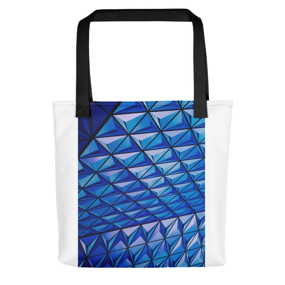 Blue Angle Grid Tote bag - FRANKdesigns.Co