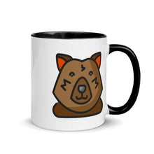 Load image into Gallery viewer, Bear Mug with Color Inside - FRANKdesigns.Co