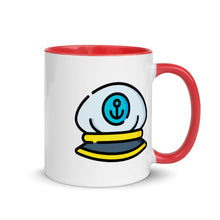 Load image into Gallery viewer, Captain Hat Mug with Color Inside - FRANKdesigns.Co