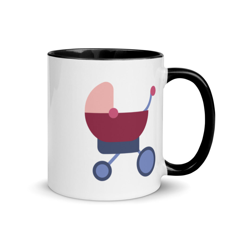 Baby Stroller Mug with Color Inside - FRANKdesigns.Co