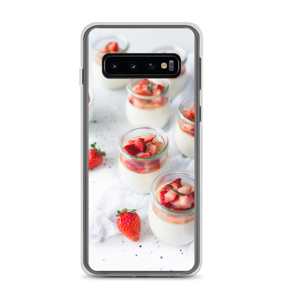 Strawberries and cream Samsung Case - FRANKdesigns.Co