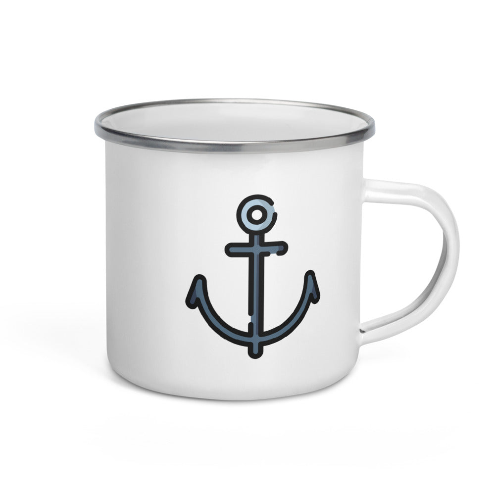 Ship Anchor Enamel Mug - FRANKdesigns.Co