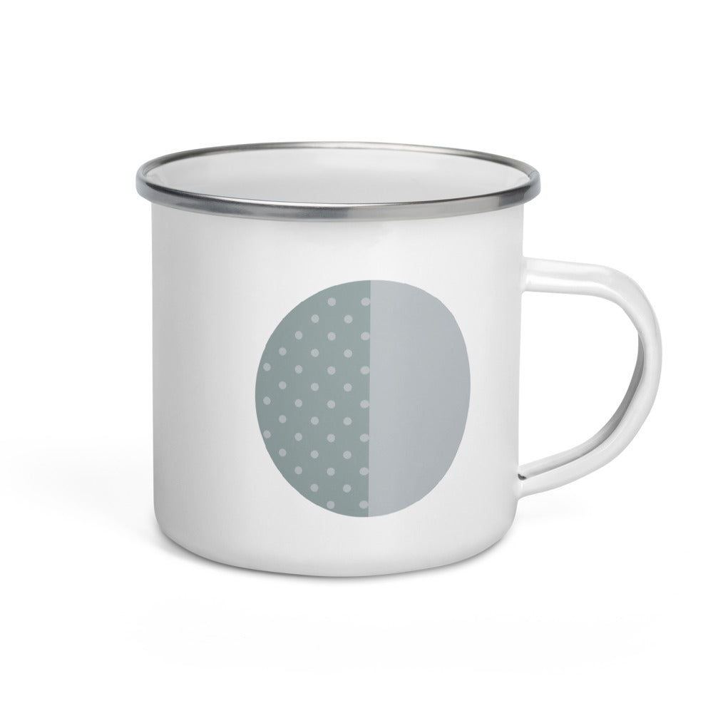 First Quarter Moon Enamel Mug - FRANKdesigns.Co