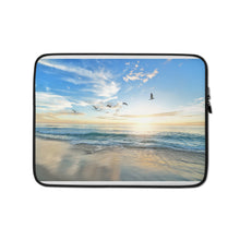 Load image into Gallery viewer, birds over the beach Laptop Sleeve - FRANKdesigns.Co