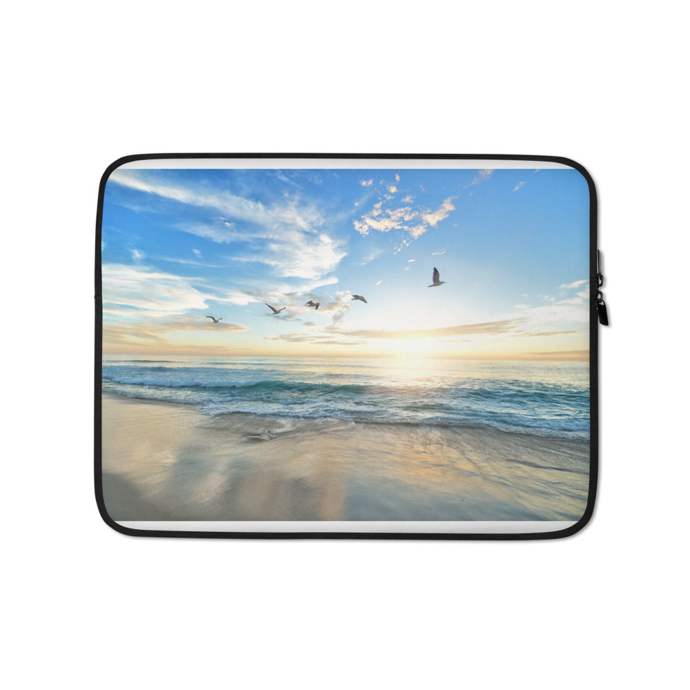 birds over the beach Laptop Sleeve - FRANKdesigns.Co