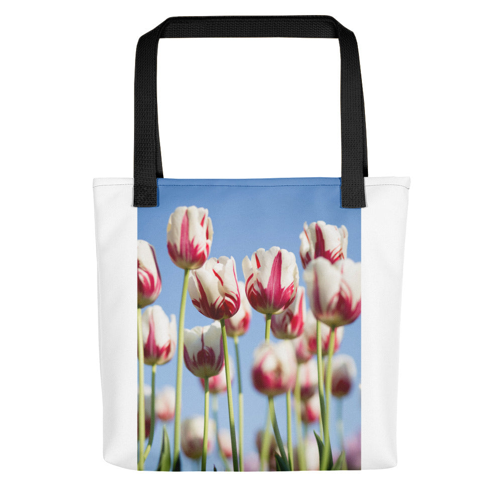 Tulips in a Field Tote bag - FRANKdesigns.Co