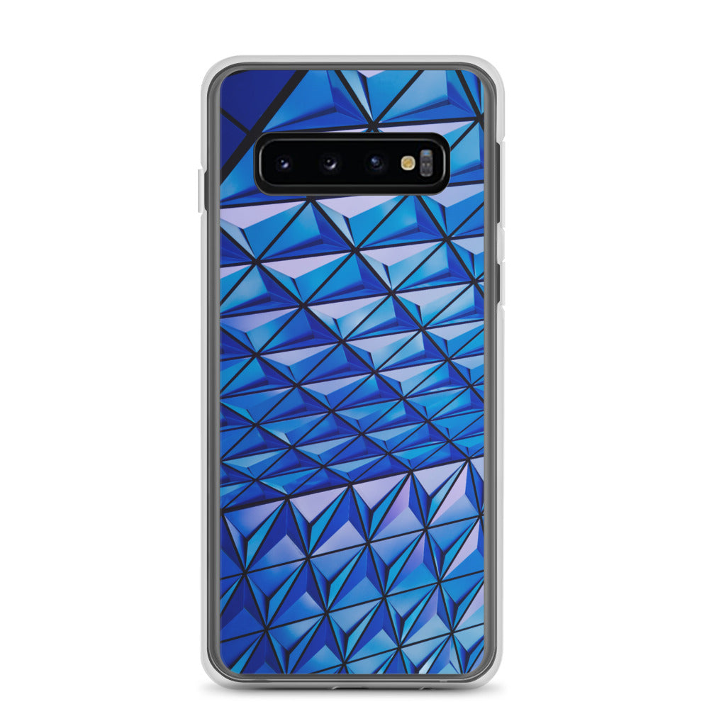 Blue Angle Grid Samsung Case - FRANKdesigns.Co