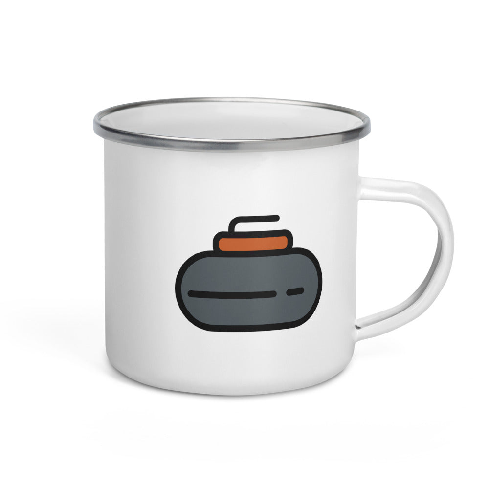 Curling Stone Enamel Mug - FRANKdesigns.Co