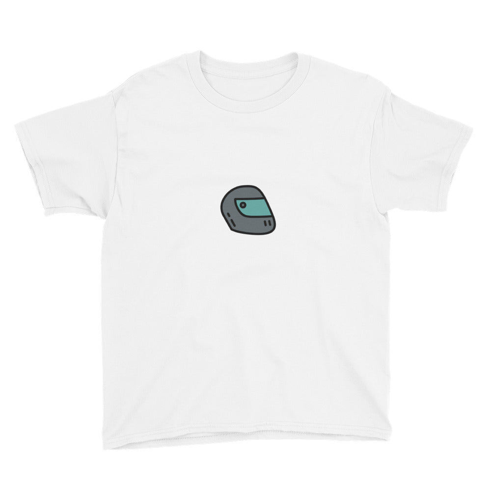 Motorcycle Helmet Youth Short Sleeve T-Shirt - FRANKdesigns.Co