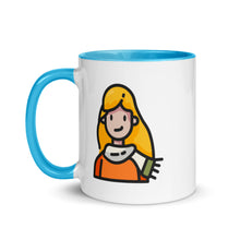 Load image into Gallery viewer, Woman Mug with Color Inside - FRANKdesigns.Co