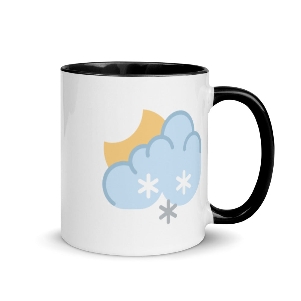 Snow at Night Mug with Color Inside - FRANKdesigns.Co