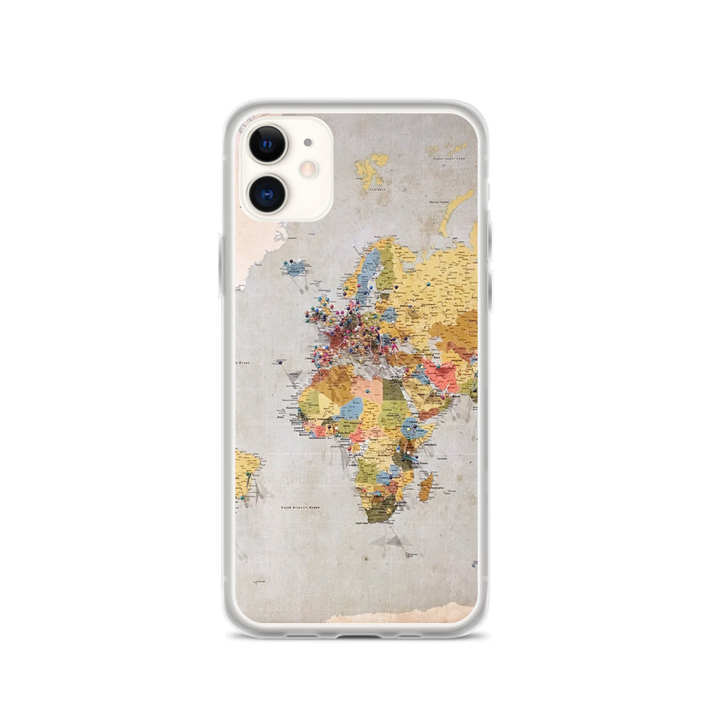 World Map IPhone Case - FRANKdesigns.Co