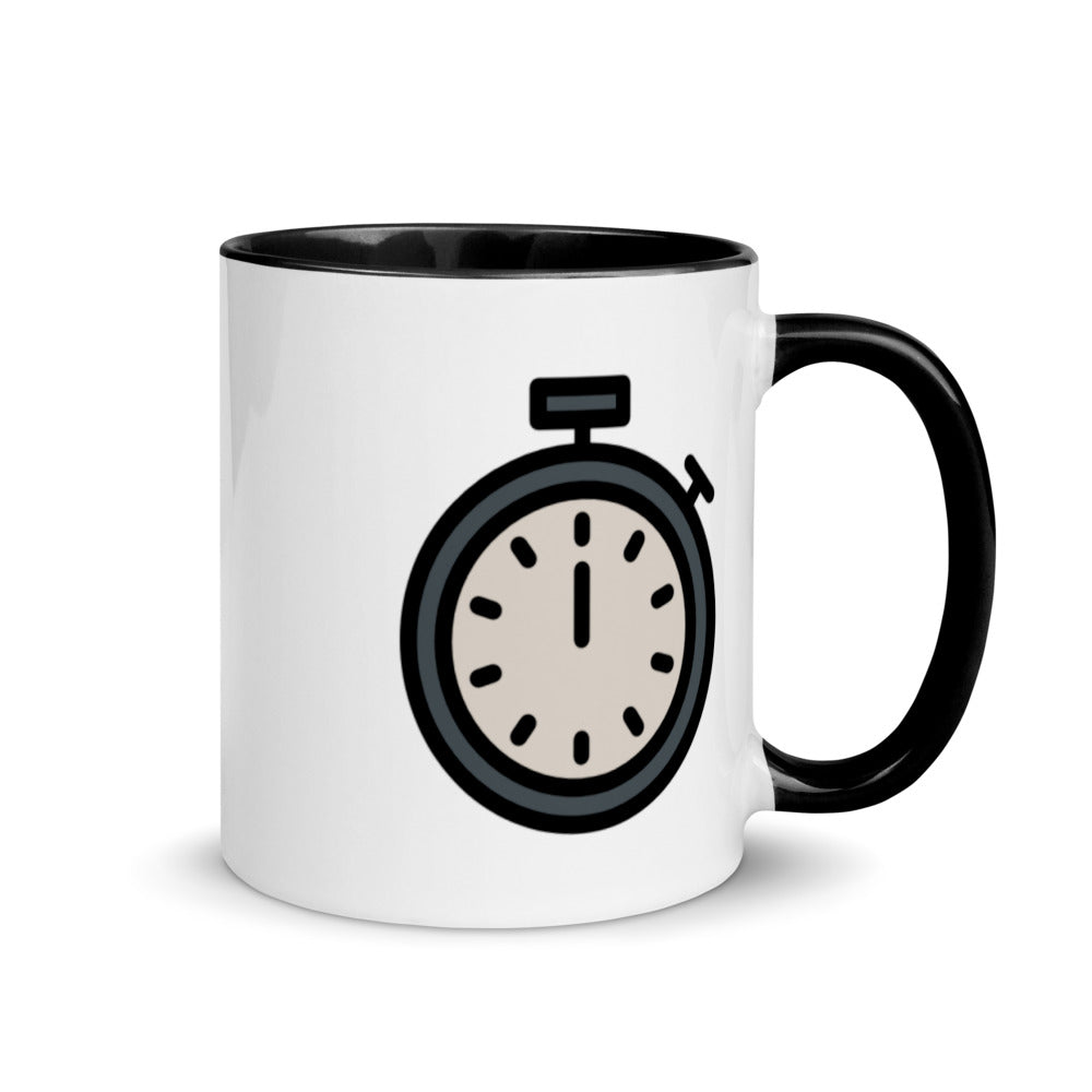 Stopwatch Mug with Color Inside - FRANKdesigns.Co