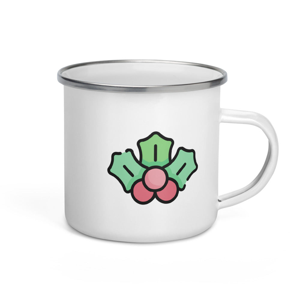 Mistletoe Enamel Mug - FRANKdesigns.Co