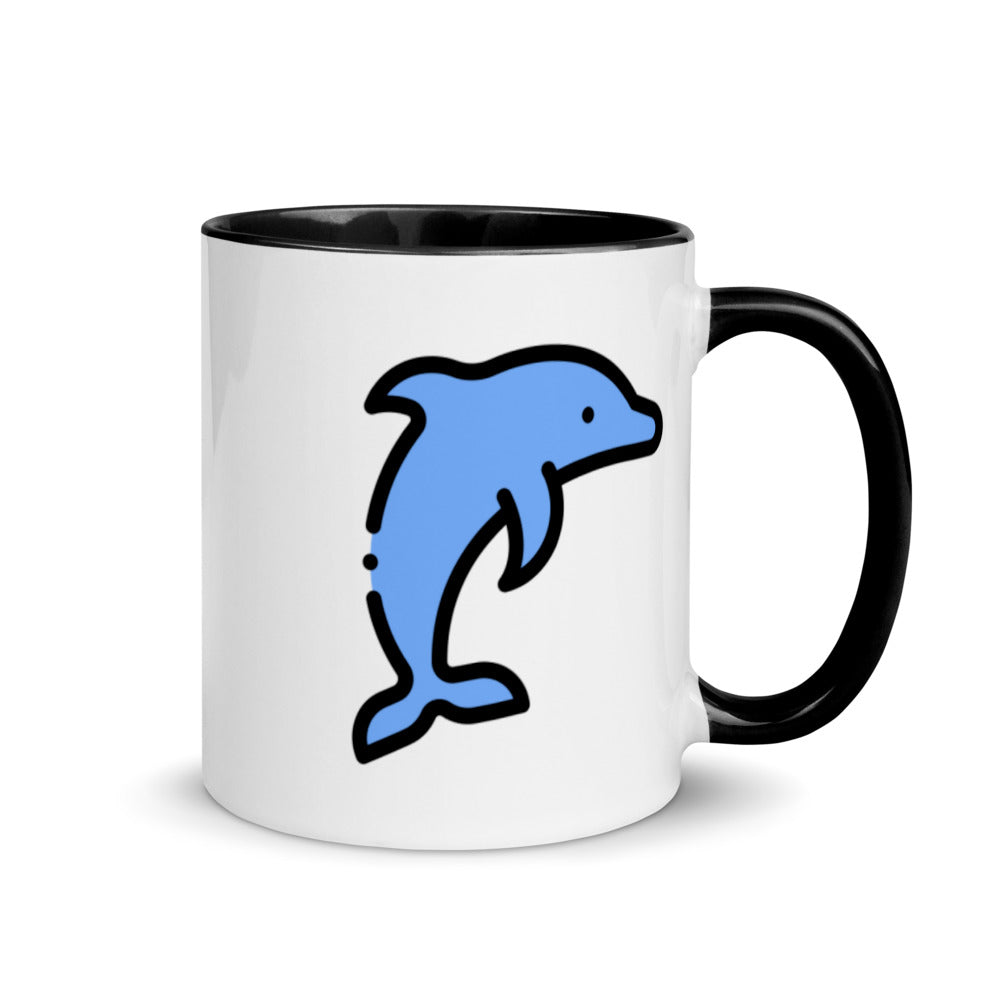 Little Dolphin Mug with Color Inside - FRANKdesigns.Co