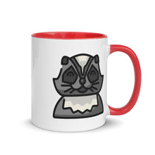 Load image into Gallery viewer, Racoon Mug with Color Inside - FRANKdesigns.Co