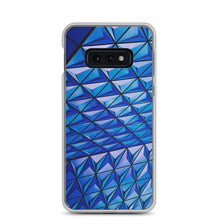 Load image into Gallery viewer, Blue Angle Grid Samsung Case - FRANKdesigns.Co