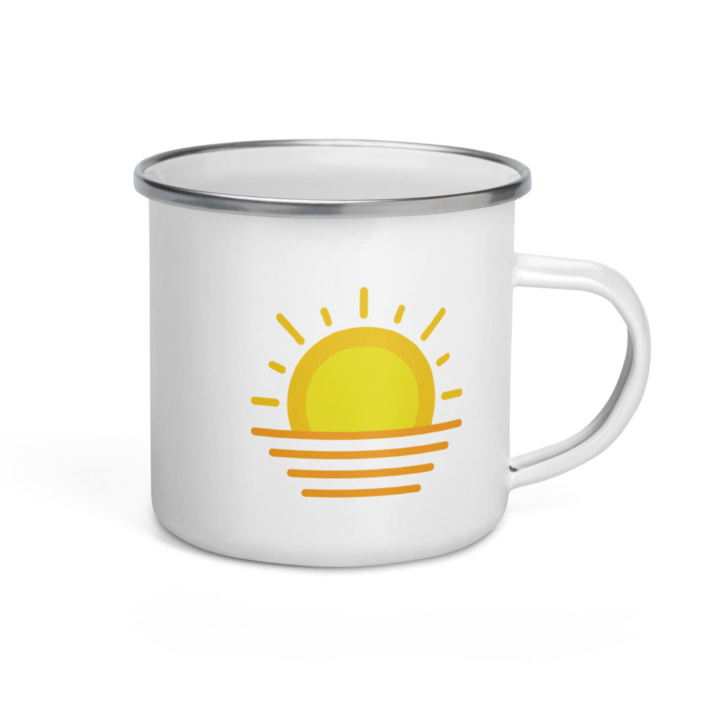 Sun over Ocean Enamel Mug - FRANKdesigns.Co