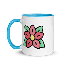 Load image into Gallery viewer, Pointsettia Mug with Color Inside - FRANKdesigns.Co