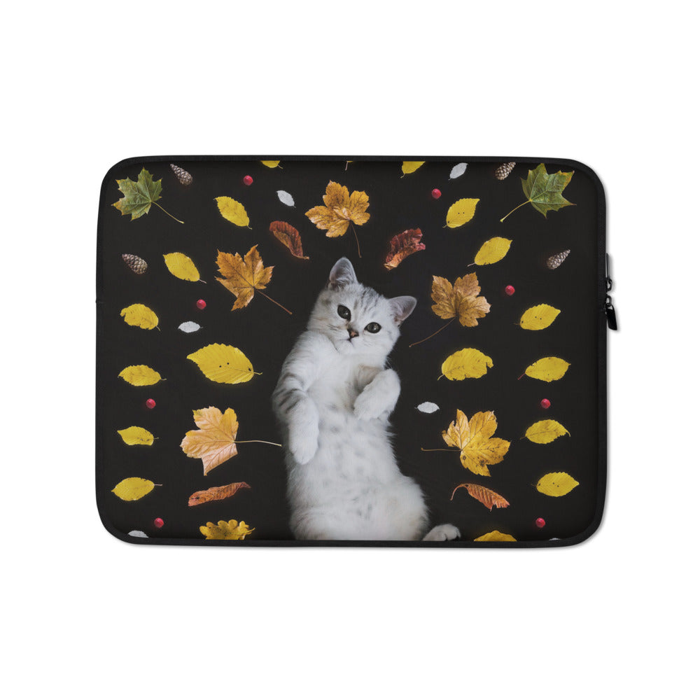 Laptop Sleeve | Autumn Cat - FRANKdesigns.Co
