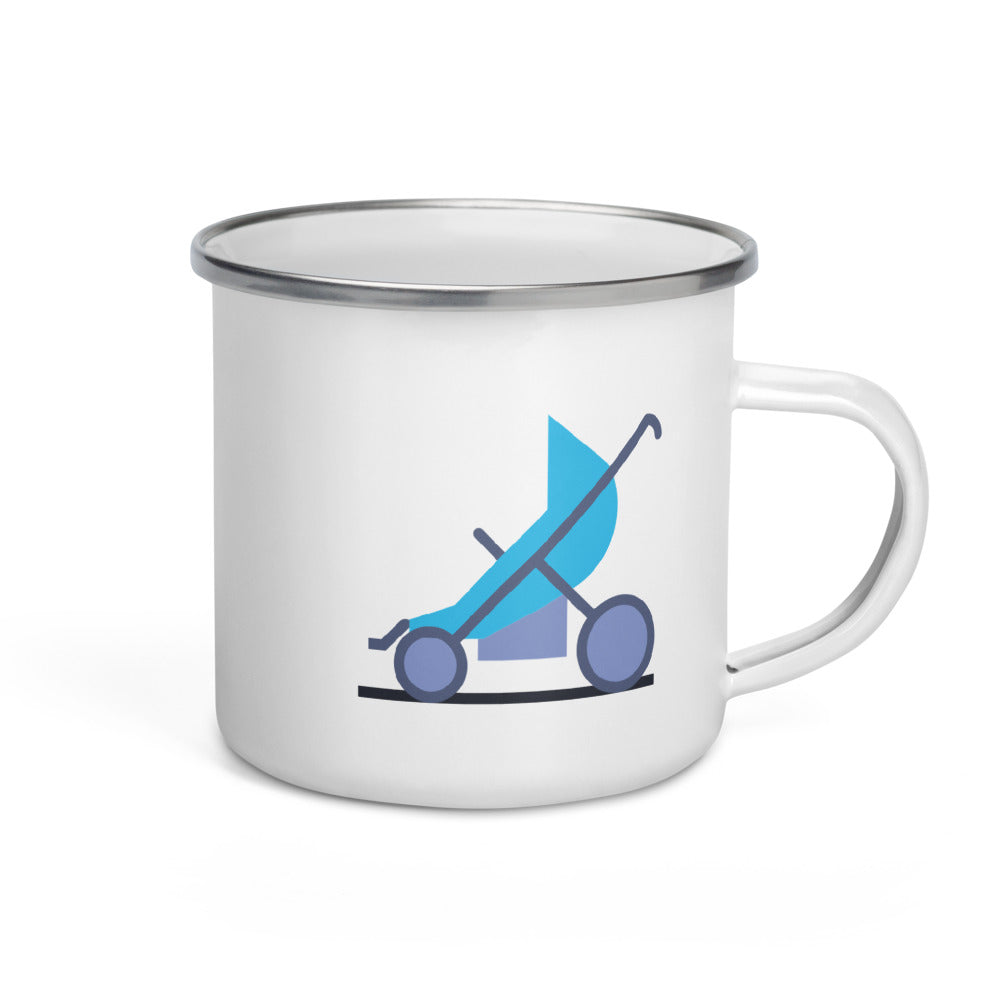 Blue Stroller Enamel Mug - FRANKdesigns.Co